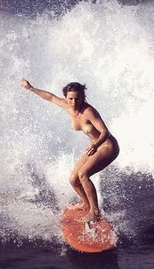 Hot girl surfing nude